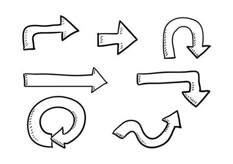 arrow doodle free vector vector doodle arrows