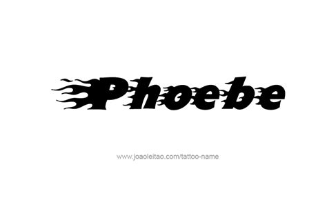 phoebe tattoo designs phoebe name designs