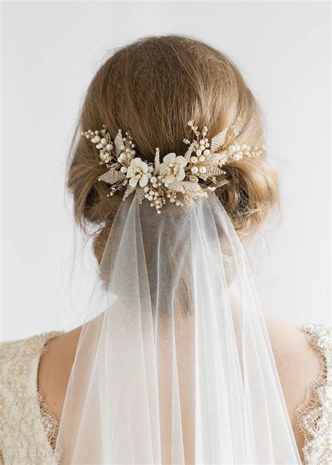 Wedding Hair Bun Veil by Flying High Wedding Veils Above Or Below The Bun