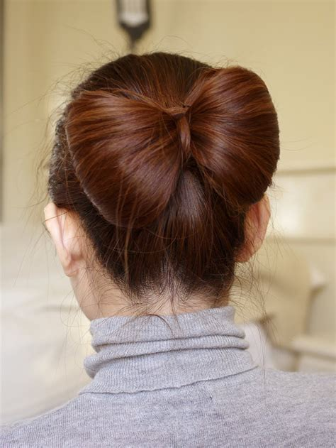 Bow In Her Hair And Rear View | hair bow tutorial for long hair youtube