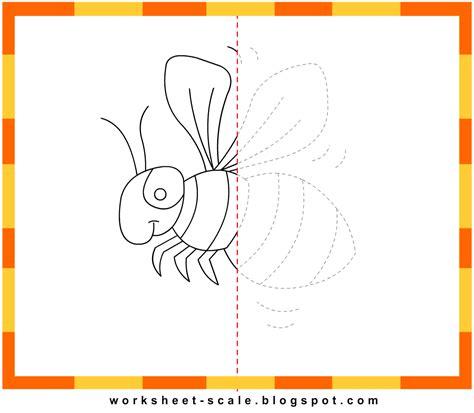 Drawing Printable Worksheets by Free Printable Drawing Worksheets For Bee Worksheet