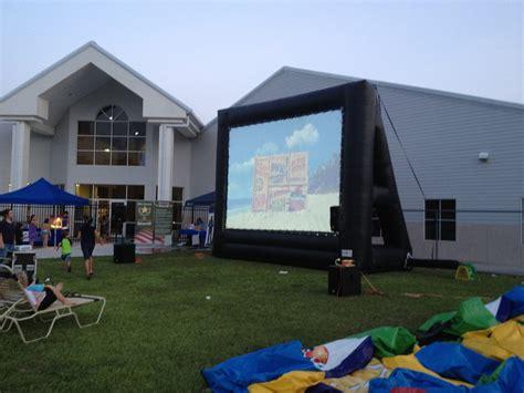 backyard movie screen rental outdoor cinema rental inflatable movie screens florida