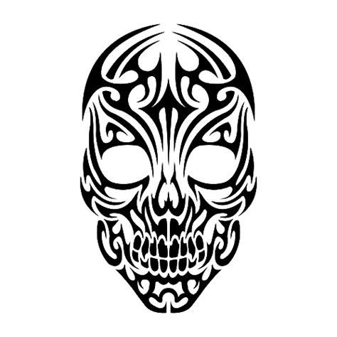 Tribal Sticker Skull by Tribal Skull Die Cut Vinyl Decal Pv1045