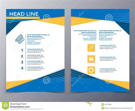 technology brochure template business and technology brochure design template vector
