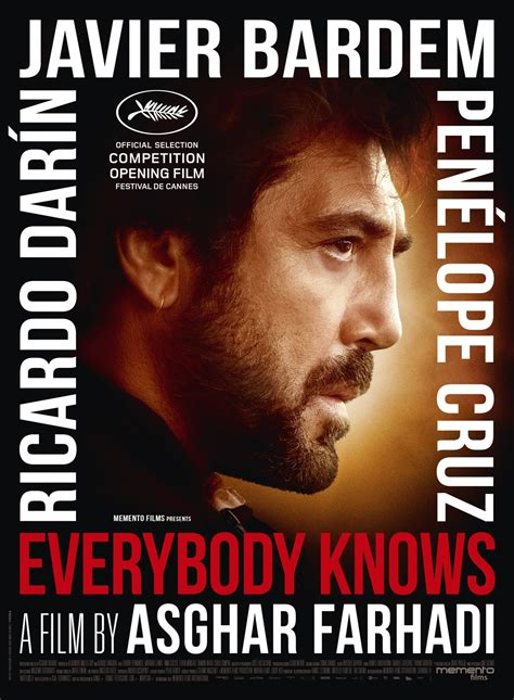 actors and actresses everyone knows everybody knows todos lo saben by asghar farhadi to open