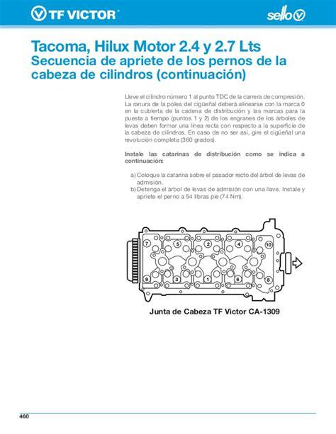 ajuste de motor despiece carburador toyota hilux tacoma hilux motor 2 4 y 2 7 lts