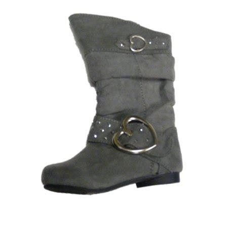 river blues river blues toddler gray suede look fashion boots with hearts