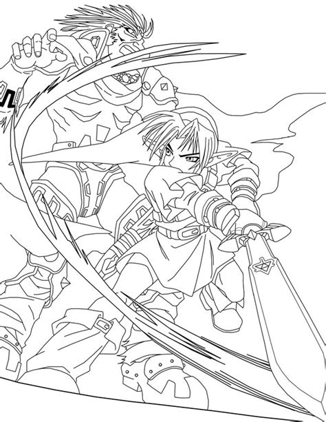 coloring book vs tlop link vs ganondorf lineart by frozen on deviantart