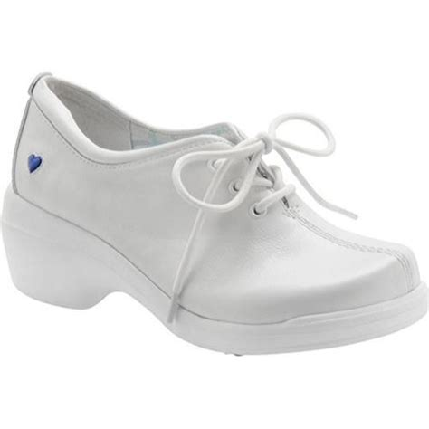 mates lace white leather comfort shoe