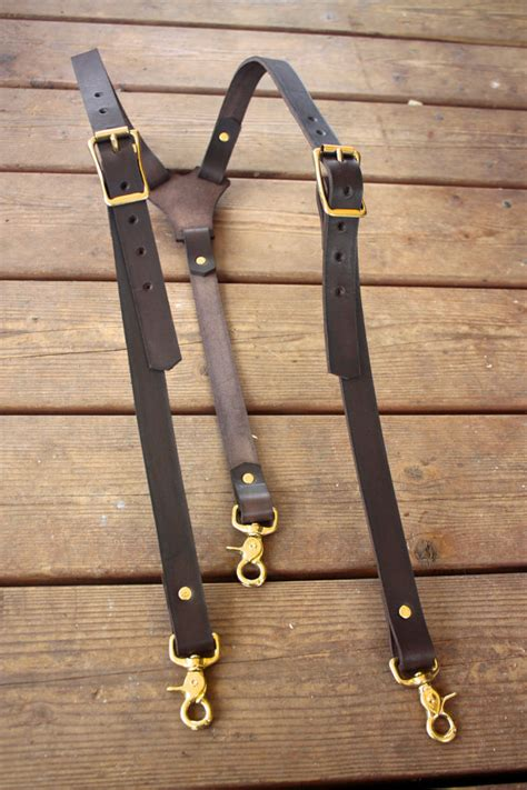 Handmade Suspenders - handmade mens leather suspenders