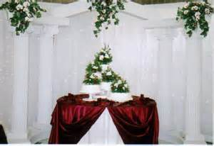 Cake Table Backdrop by Daranesha S Blue Wedding Flowers5 As You Can See We