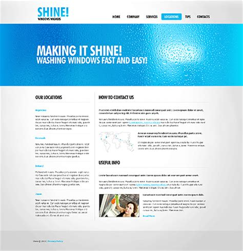 window cleaning website template 27144