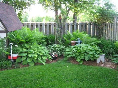 Landscape Design With Hostas Corner Hosta Garden The Back Corner Hostas Ferns
