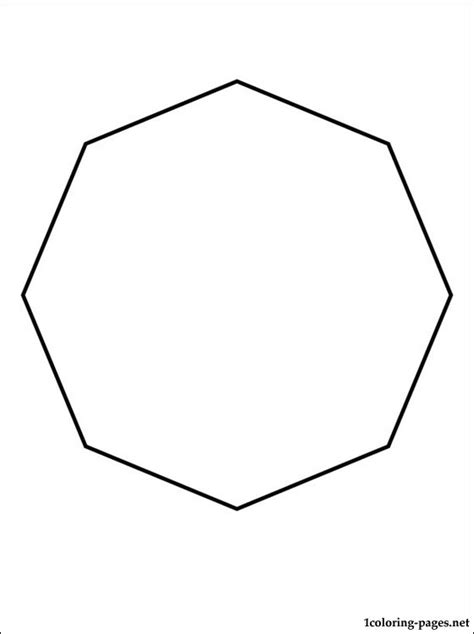 octagon coloring page coloring pages