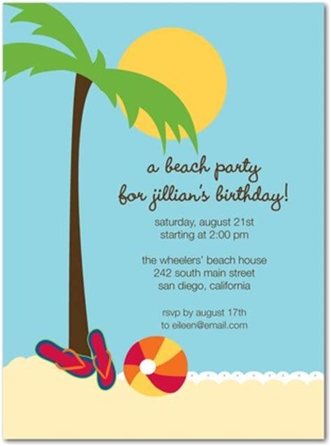 beach bash birthday party invitations in sky oh joy