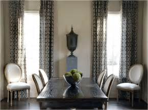 Dining Room Curtains by Drapery Panels For A Gray Dining Room Driven By Decor