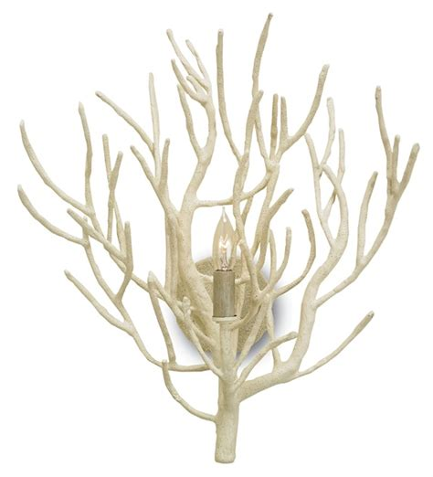 Coral Wall Sconce turks faux coral branch wall sconce mecox gardens