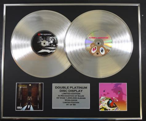 Kayne For Limited Edition At Shopbop by Kanye West Platinum Disc Record Display Ltd Edition