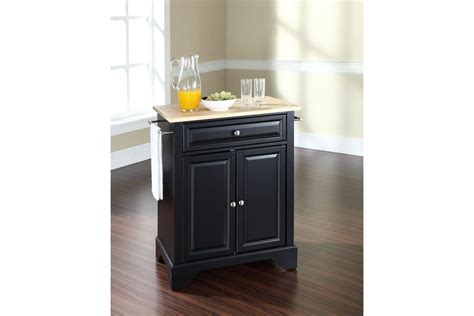 white kitchen island with natural top lafayette natural wood top portable kitchen island in
