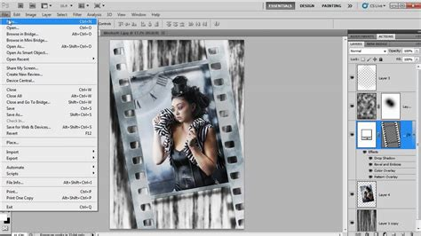 template photoshop cs5 grunge filmstrip template in photoshop cs5 youtube
