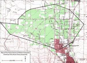 milton freewater oregon map the rocks district of milton freewater delmas