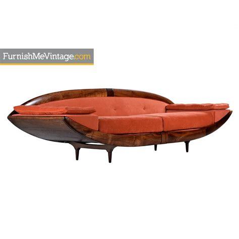 adrian pearsall gondola sofa pearsall style modern mid century gondola sofa