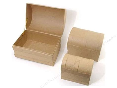 Paper Mache Craft Boxes - paper mache chest dome box set of 3 by craft pedlars 4