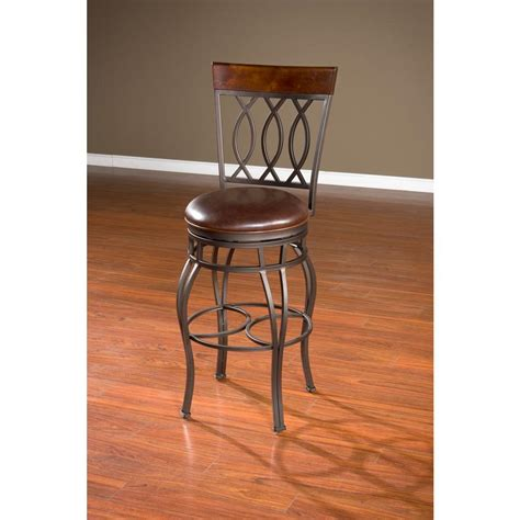 Pepper In Stool by American Heritage 34 In Pepper Cushioned Bar Stool 134714pp L32 2 The Home Depot