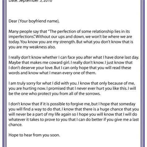 Apology Letter To Boyfriend After Lying apology letter to for lying luxury apology