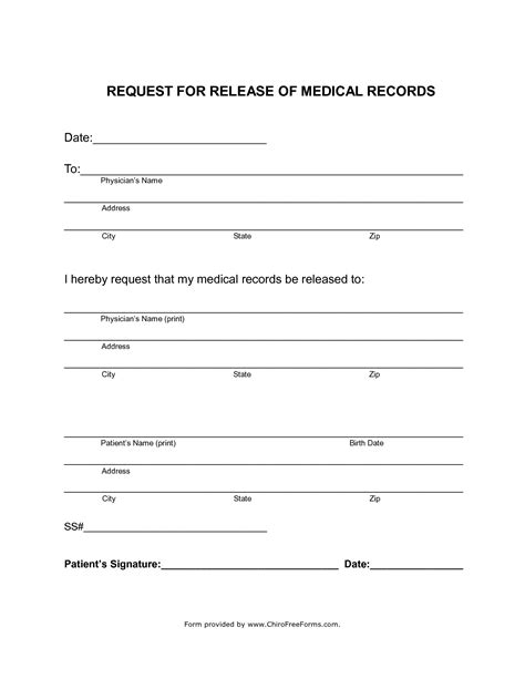 request for release of records template simahealing