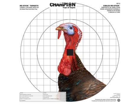 printable turkey target pdf chion re stick turkey sight in self adhesive targets