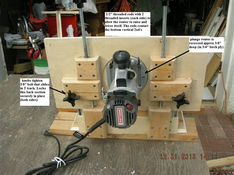 Horizontal Router Table Adjustable Top Router Forums
