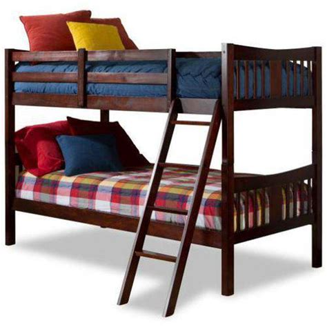 bunk bed walmart storkcraft caribou bunk bed cherry walmart com
