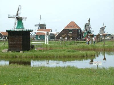 olanda e amsterdam, i dintorni: zaanse schans, i mulini a