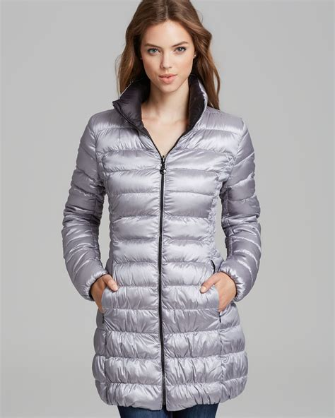 light packable down jacket lyst laundry by shelli segal down coat reversible