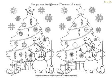 find the differences christmas tree