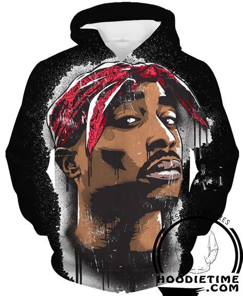 Hoodie Hip Hop tupac hoodie 2pac black 3d pullover clothing hip