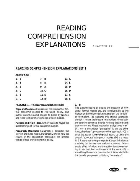 reading comprehension test with answer key 3 gmat reading comprehension practice sets 18 questions each