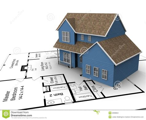 Building Plans Houses New House Plans Stock Illustration Image Of Design Property 2838684