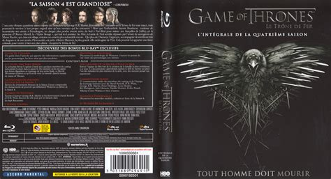 Résumé 4 Saisons Of Thrones by Jaquette Dvd De Of Thrones Le Trone De Fer Saison 4