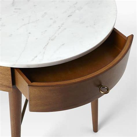west elm penelope grand nightstand chairish penelope grand nightstand acorn w marble top west elm