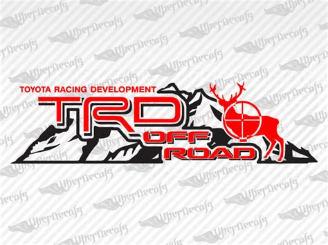 Toyota Road Decals Toyota Trd Road Mountain Deer Decal Stickers Car