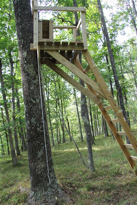 Wood Ladder Stand Plans