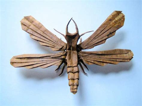 Origami Insect - insect origami the awesomer