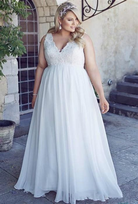 stunnng plus size wedding dresses 2016 chiffon