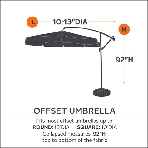 Patio Umbrella Parts Suppliers Classic Accessories 55 195 015101 Ec Ravenna Patio Offset Umbrella Cover Patio