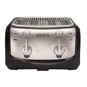 4 Slice Toaster Black Amazon Com Krups Fem4b Toaster 4 Slice Black Kitchen