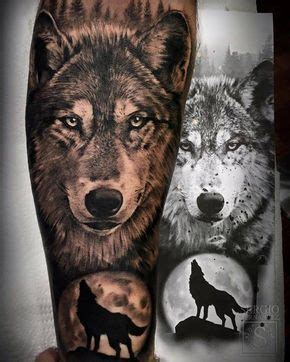 Forgoes Black And Grey For Once by Las 25 Mejores Ideas Sobre Tatuajes De Lobo En