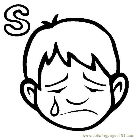 Sad Person Coloring Page | sad coloring page free alphabets coloring pages