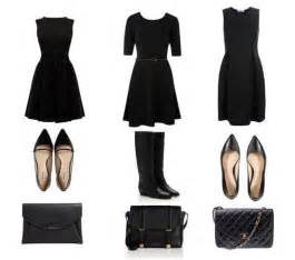 Three variations on the contemporary knee length black dress with